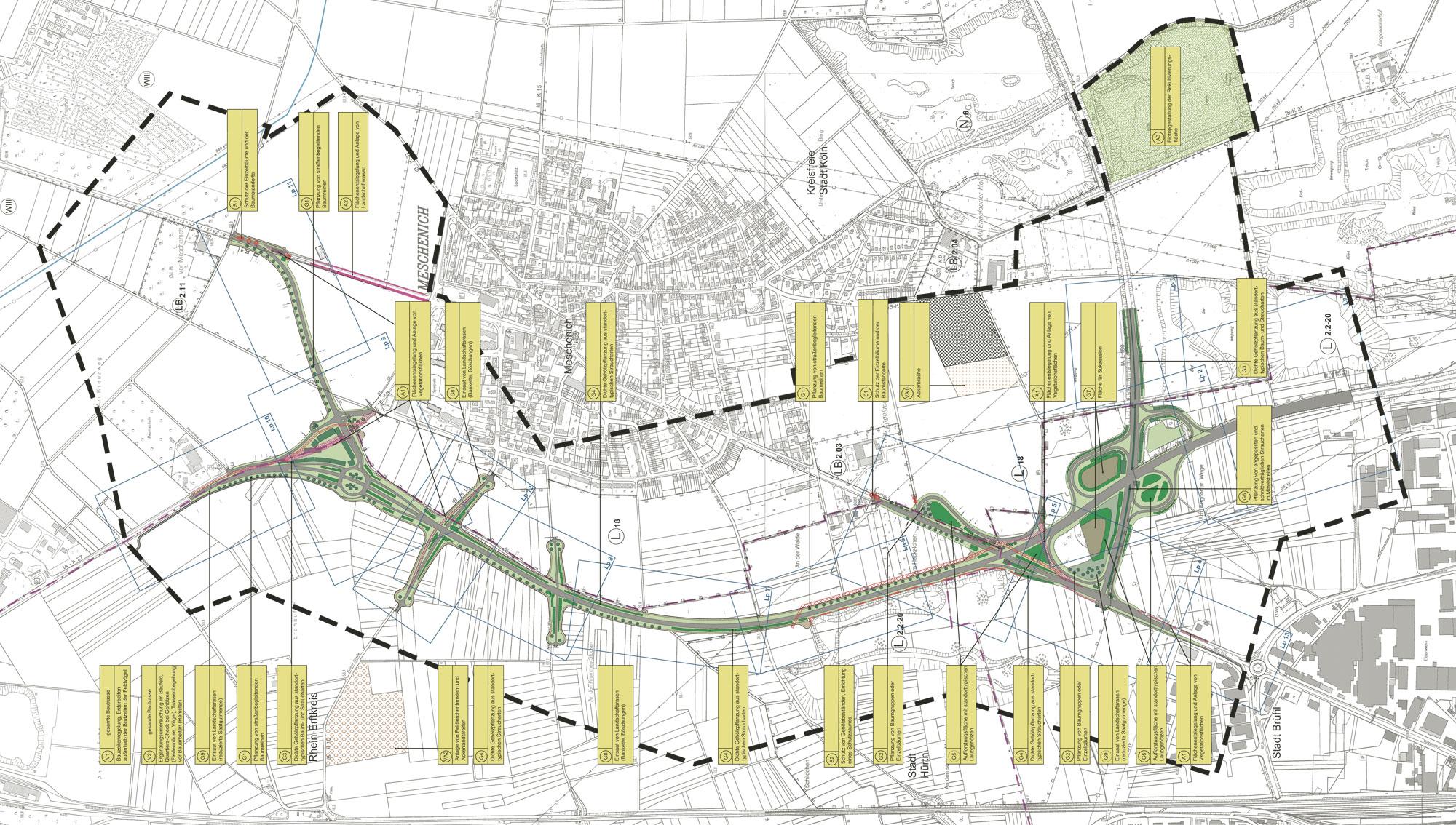 Rmp stephan lenzen landschaftsarchitekten bypass b 51 n cologne meschenich - Landschaftsarchitekten koln ...